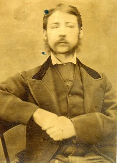 Mugshot: James Jobling (aged 26). Convicted for the offence of 'Unlawfully Wounding'. ca. 1870s.     Age (on discharge): 26