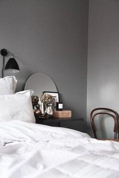 Home Interior Design sovrumstankar Home Bedroom, Bedroom Decor, Bedrooms, Bedroom Corner, Gray Bedroom, Closet Bedroom, Modern Minimalist Bedroom, Minimalist Decor, Suites