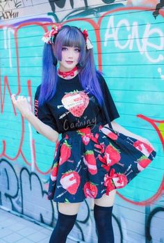 Pastel Goth Outfits, Pastel Goth Fashion, Kawaii Fashion, Lolita Fashion, Cute Fashion, Fashion Women, Japanese Street Fashion, Tokyo Fashion, Harajuku Fashion