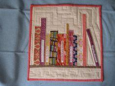 bookshelf mini quilt