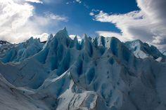 Ice field peaks