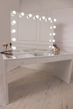 Vanity Mirror With Lights And Desk.Tribesigns Vanity Set With Lighted Mirror Makeup Vanity . Furniture: Interesting Ikea Makeup Vanity For Your Bedroom . 50 Makeup Vanity Table With Lights You'll Love In 2020 . Home and Family Dressing Table Lights, Dressing Table Vanity, Dressing Tables, Glass Vanity Table, Vanity Tables, Dressing Table With Light Up Mirror, Dressing Table With Hollywood Mirror, White Vanity With Lights, Makeup Vanity With Lights
