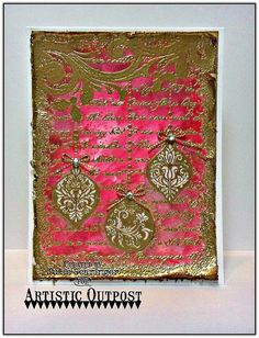 Happy Saturday Everyone! Julie  here, sharing a Mixed Media Christmas card designed with the brand new Artistic Outpost (AO) background s...
