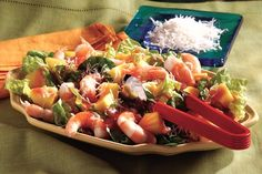 Love coconut shrimp? Then this island-inspired salad, featuring mango, cooked shrimp and flaked coconut, is right up your alley.