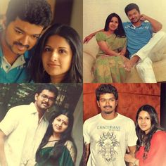 Actor Vijay Family Photos with Wife Sangeetha, Son Sanjay and Daughter Divya Actor Quotes, Hero Quotes, Hollywood Star, Classic Hollywood, Celebrity Couples, Celebrity Photos, Movie Stars, I Movie, Vijay Actor