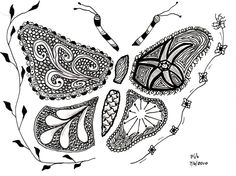 #zentangle #butterfly