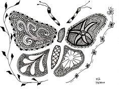 #zentangle #butterfly