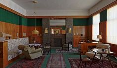 Visitors to the Czech city of Pilsen will be able to visit three restored interiors designed by influential Modernist architect Adolf Loos. Interior Architecture, Interior And Exterior, Victorian Architecture, Bauhaus, Brick And Wood, Interior Photo, Contemporary Interior Design, Apartment Interior, Interior Inspiration