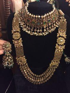 6452dc92d Bridal jewellery Jewellery Earrings, Bridal Jewellery, Indian Wedding  Jewelry, Bridal Necklace, Gold