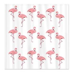 SOLD! My best seller Pink #Flamingo Shower Curtain to another happy customer! #bathroom #decor @CafePress