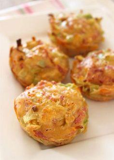 Ken je deze hartige muffins al? Ze zijn totaal anders dan 'normale', zoete muffins, maar ze smaken er absoluut niet minder om!