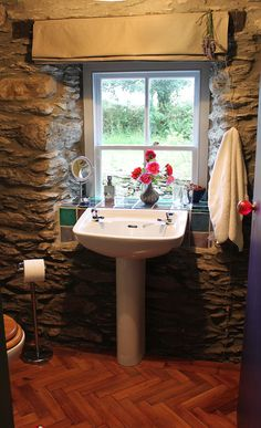 Love the stone wall in this Irish Cottage   La Vie en Rose: La Vie en Rose in Picin Cottage, Kerry . . .