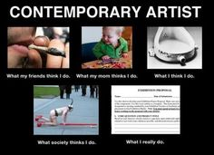 Contemporary Artist meme, whatireally