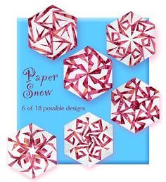 pieced snowflake quilt pattern - Google Search