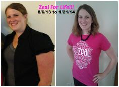 My daughter, Kayla.  Zeal for Life!  August 6th - January 21st.....I have SO much energy, no more headaches, AND I've lost 40 pounds!  The energy alone is worth it, but the weight loss is an added bonus!  I've done this with just the Zeal Wellness drink....Zeal also has a weight loss program.  www.kaylagonser.zealforlife.com   A year from now, you'll wish you had started today!