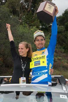 Peter Sagan and wife at Amgen tour de California
