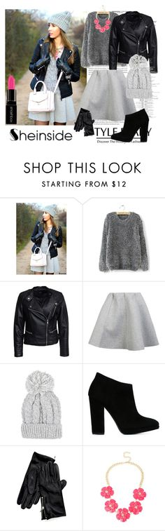 """""""http://www.shein.com/Grey-Long-Sleeve-Shaggy-Mohair-Loose-Sweater-p-144471-cat-1734.html?"""" by erna-pozderovic ❤ liked on Polyvore featuring Sisters Point, Brigitte Bardot, Giuseppe Zanotti, Tommy Hilfiger, INC International Concepts, Smashbox, women's clothing, women, female and woman"""