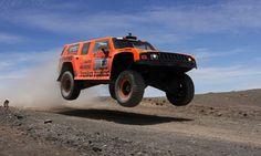 Gordon in his Dakar Hummer