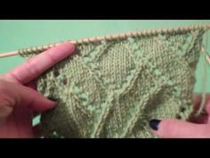 How to Knit the Diagonal Eyelet Mosaic Pattern from Vogue Knitting's Stitch a Day Calendar