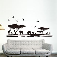 DIY Black Safari Animal Wall Stickers For Kids Rooms Elephant Decoration Decals Quote Living Room Home Decor. Category: Home & Garden. Subcategory: Home Decor. Product ID: Wall Stickers Elephant, Animal Wall Decals, Cheap Wall Stickers, Removable Wall Stickers, Decoration Stickers, Wall Stickers Murals, Vinyl Wall Stickers, Vinyl Art, Vinyl Room