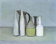 """ Giorgio Morandi - Still life The work of Giorgio Morandi has definitely won my heart over. An Italian painter he specialized in still life, painting mostly his large collection of. Italian Painters, Italian Artist, Painting Still Life, Paintings I Love, Juan Sanchez Cotan, Simple Subject, Still Life Artists, A Level Art, Everyday Objects"
