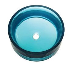 Incandescence Above-Counter Round Resin Vessel Sink in Lagoon-2806-LAG at The Home Depot