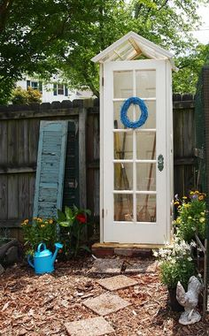 small-garden-shed Perfect, small and sweet idea for any garden. Source  http://acultivatednest.com/2013/05/my-cute-little-diy-garden-shed/