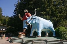 Paul Bunyan and Babe the Blue Ox, at Trees of Mystery , California