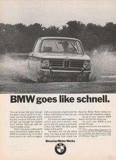 1970 BMW 2002 - Goes like schnell! - vintage ad