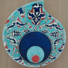 Pottery Painting Designs, Paint Designs, Turkish Tiles, Evil Eye Jewelry, Caligraphy, Tile Art, Ceramic Plates, Quilling, Turkey