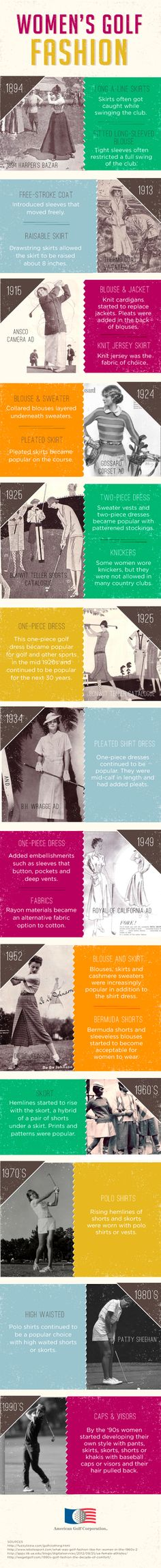 The Lifestyle & Fashion of Womens Golf. I should take note of this for when I start golfing.