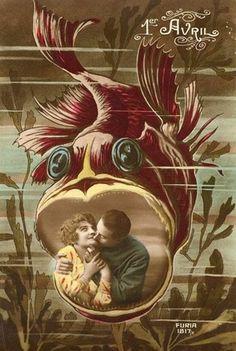 April 1st fish fun. #vintage #April_Fools_Day #fish