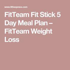 fit sticks meal plan