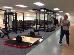A View Of The Rig...#LivingWell #GetFit #Cardio #Weights #MMA #Fitness