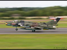 """Royal International Air Tattoo 2014 - Polish Air Force Sukhoi Su-22M-4 """"Fitter"""" attack fighter. Life extension programs mean the venerable Su-22 will serve on in Polish Air Force for at least another 10 years."""