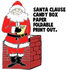 Santa Clause Foldable Papercraft candy boxes and many more