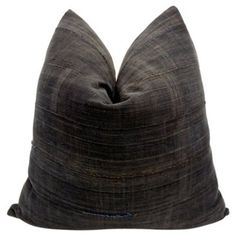 Check out this item at One Kings Lane! Mali Tribal Charcoal Pillow