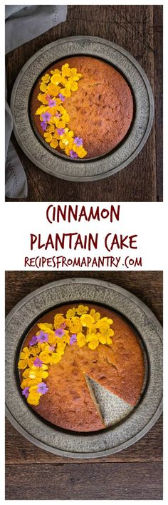 Cinnamon Plantain Cake - West African Flavors - Hannah Dale - Cinnamon Plantain Cake - West African Flavors Cinnamon Plantain Cake is an easy West African recipe that is sweet and full of flavour. An easy way to use up ripe plantains! Banane Plantain, Ripe Plantain, Cake Recipes, Snack Recipes, Dessert Recipes, Cooking Recipes, Snacks, Plantain Cake Recipe, West African Food