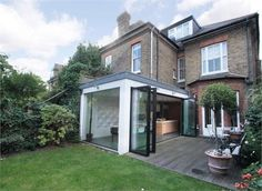 Modern extension in a victorian house