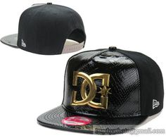 DC Leather Snapback Hats Golden Logo (1)|only US$20.00 - follow me to pick up couopons.