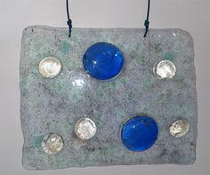 Blue Stone Drop Sun Catcher