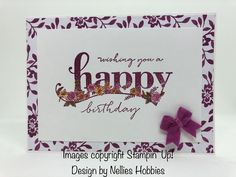 I love a freebie and the Sale-A-Bration Happy Wishes set is a gorgeous freebie! I used my ink pads & aqua painter to colour the flowers