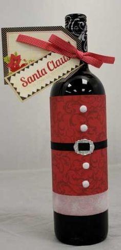 Bottiglia di vino Natalizia