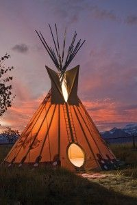Teepee at Spring Creek Ranch in Jackson Hole, WY
