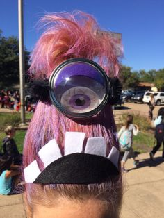 Purple Minion for crazy hair day at school!  。◕‿◕。 See my Despicable Me  Minions pins https://www.pinterest.com/search/my_pins/?q=minions