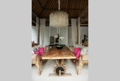 Bali honeymoon - love this dining table!