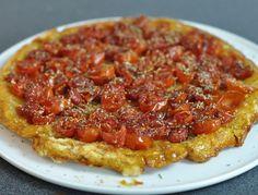 Tarte tatin aux tomates cerises et herbes de provence