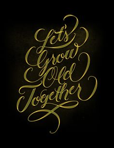 Let's Grow Old Together by Daniel Palacios, via Behance #lettering #type #letsgrowoldtogether