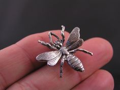 Bee Brooch, Cute Pin, Tiny Brooch, Brooch Pin, Gift Idea, Stocking Stuffer, Handmade Brooch, Lapel Pin, Pin Badge, Bee Pin, Bee Jewelry by ClassicMinimalist on Etsy