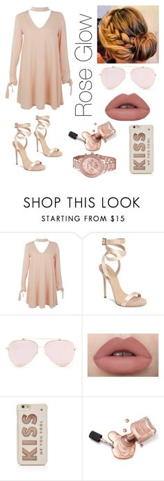 """""""Rose Glow"""" by raven-ette ❤ liked on Polyvore featuring Boohoo, Giuseppe Zanotti and Kate Spade"""